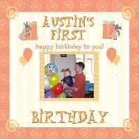 Austin's First Birthday