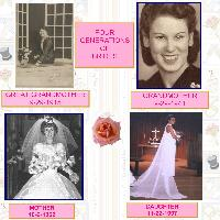 4 GENERATIONS OF BRIDES