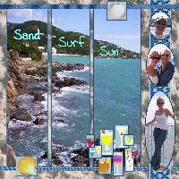 Sand Surf Sun