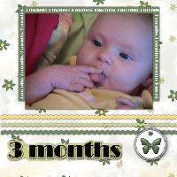 Nora at 3 months