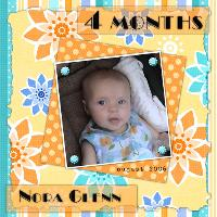 Nora at 4 months