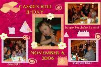 Cassie's 6th B-Day