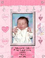 Rebecca's Birth Announcement