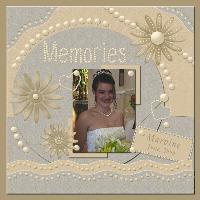 Marvine on her Wedding Day