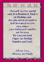 Very 1st birthday card.