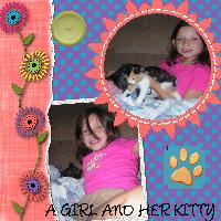 A Girl And Her Kitty