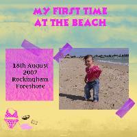 Chloe at the beach