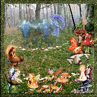 mushrooms fairy circle