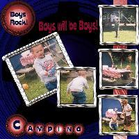 Boys will Be Boys Camping