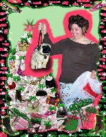 High-Fashion Christmas Frame with photo
