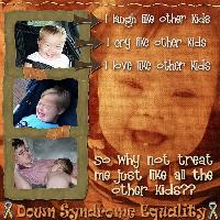 Down Syndrome Equality