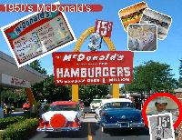 Retro cars at retro McDonald's