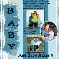 And baby makes 4
