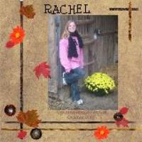 rachel scrap page