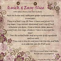 Quick & easy Slice