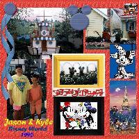Jason  & Kyle at Disney World 1990