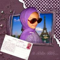Chic girl in purple challenge