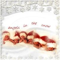 Anne Geddes angels in the snow