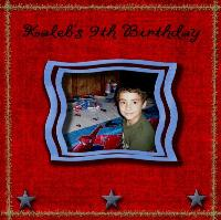 Kaleb's 9th Birthday
