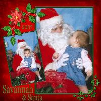 1st Pic with Santa