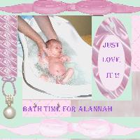 Bath time for Alannah