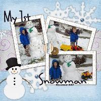 ::Camron's First Snowman::