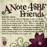 A Note To SBF Friends