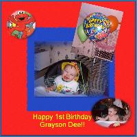 Grayson's 1st Birthday