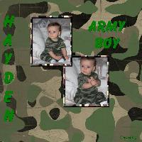 Army Boy Hayden scrapbook1