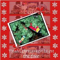 Train Ornaments on the tree