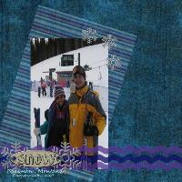 My first time skiing :)