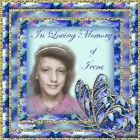 In Loving Memory Of Irene