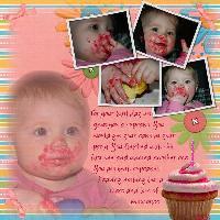 !st Birthday Cupcake