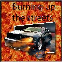 Burning Mustang