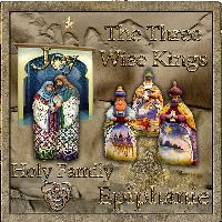 the three wise kings visiting the holy family