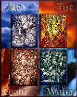 4 elements StainedGlass style