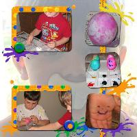 coloring Easter Eggs - Nicks page
