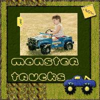 Monster Trucks Right Page