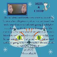 Miss & Chief = Mischief