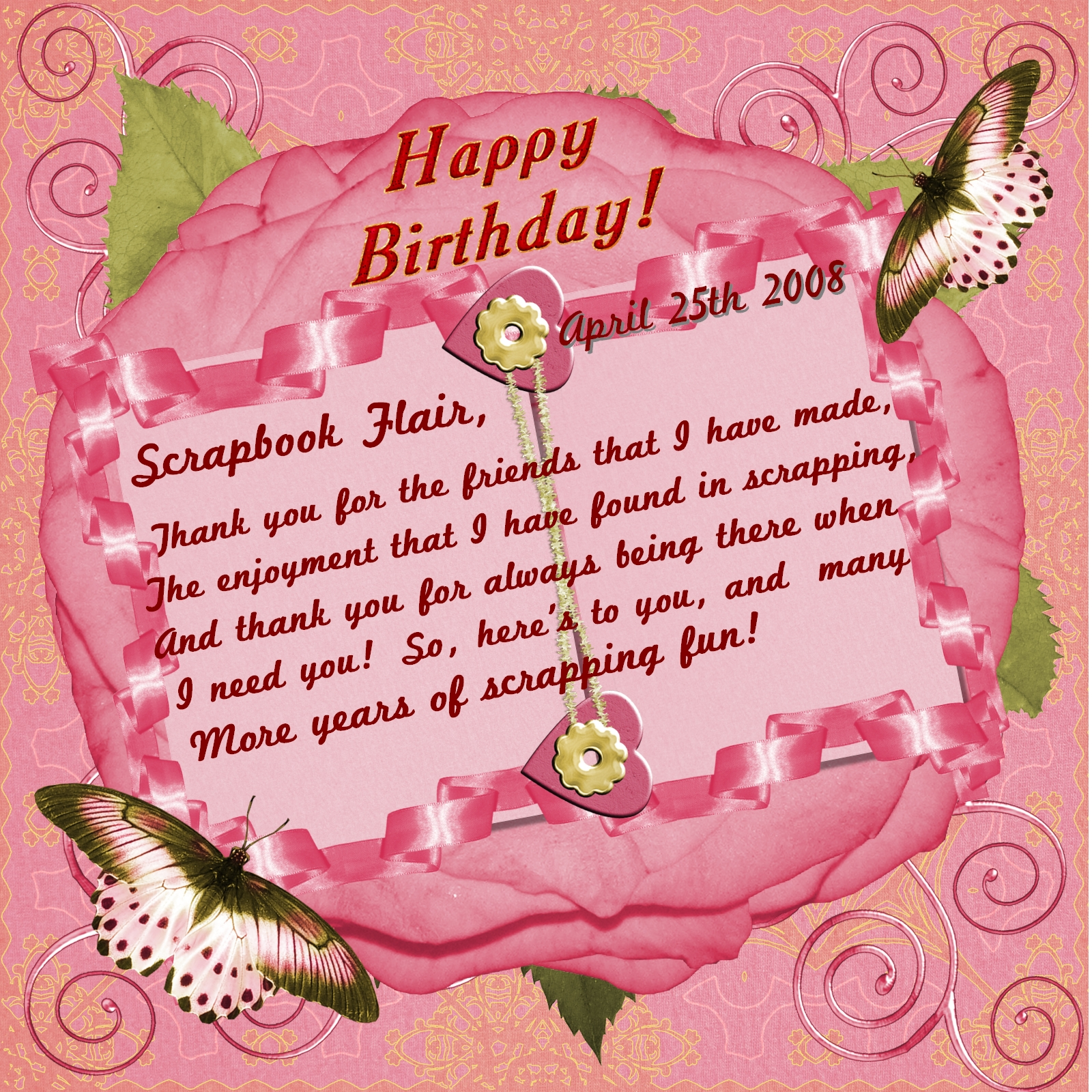 Happy Birthday Scrapbook Flair Digital Scrapbooking At Scrapbook Flair