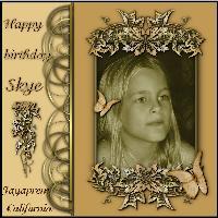 Happy Birthday Skye