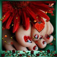 Cute Ladybird Feet