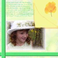 In her Easter Bonnet