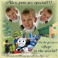 Special card for Alex