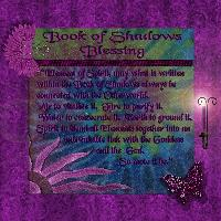 Lady Amythyst Book Blessing