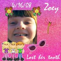 First tooth fairy visit for Zoey