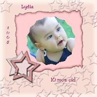 Lydia 10 mos. old