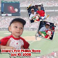 Jimmy's First Phillies Game