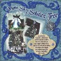 Night Sky Solstice Tree