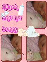 aliyah and her bunny